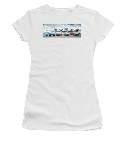 Corvettes With B17 Bomber Women's T-Shirt