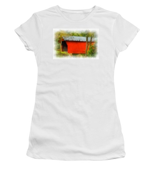 Covered Bridge - Sinking Creek Women's T-Shirt (Athletic Fit)
