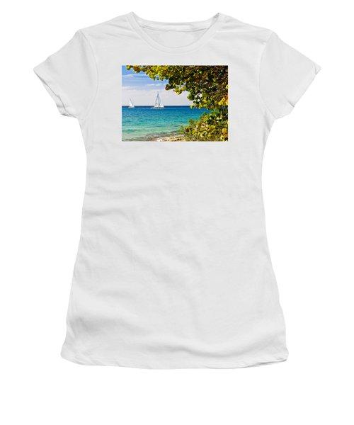 Cozumel Sailboats Women's T-Shirt (Athletic Fit)