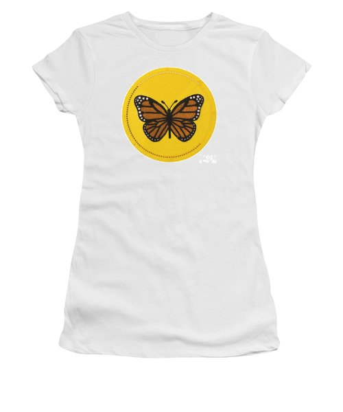 Cradleboard Beadwork Spring Butterfly Women's T-Shirt
