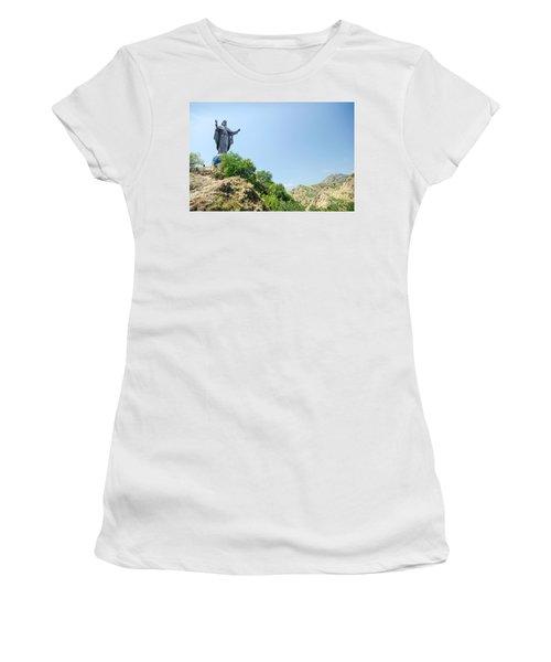 Cristo Rei Statue Near Dili East Timor Timor Leste Women's T-Shirt (Athletic Fit)