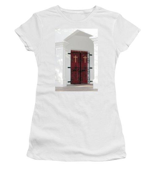 Key West Church Doors Women's T-Shirt