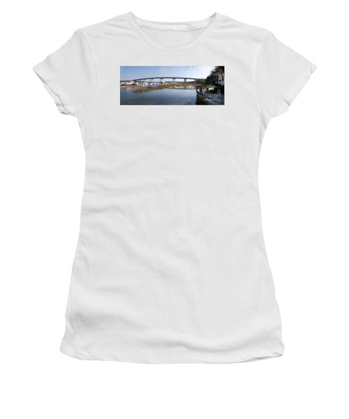 Cross Island Bridge Hilton Head Women's T-Shirt (Athletic Fit)