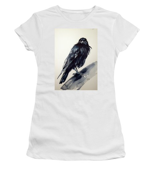 Crow Women's T-Shirt (Junior Cut) by Kovacs Anna Brigitta