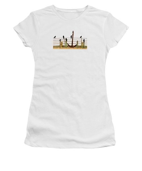 Crows At Anchor Women's T-Shirt (Athletic Fit)