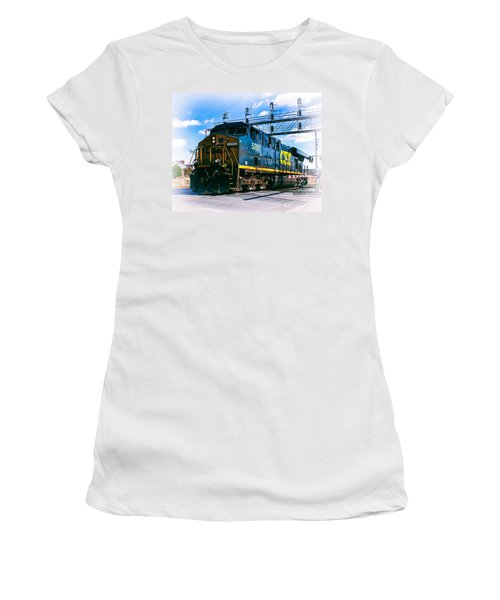 Csx 5292 Warner Street Crossing Women's T-Shirt (Athletic Fit)