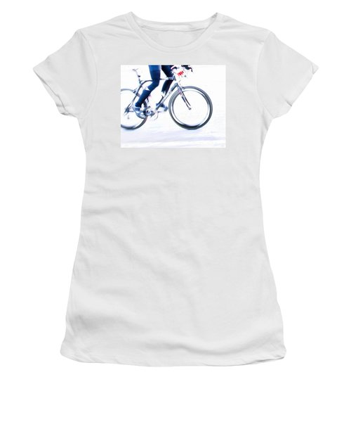 Cycling Women's T-Shirt (Junior Cut) by Theresa Tahara