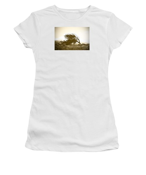 Cypress Trees In Monterey Women's T-Shirt (Junior Cut) by Artist and Photographer Laura Wrede