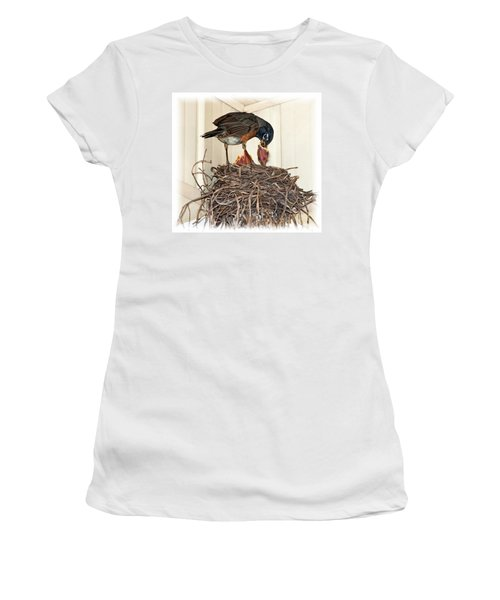 Dad Brings Home The Worm Women's T-Shirt