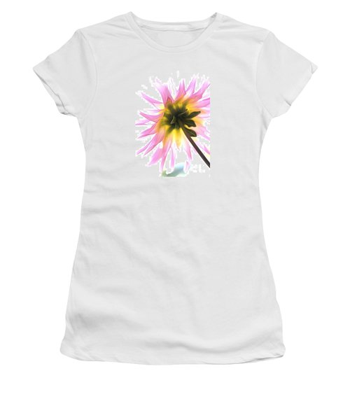 Dahlia Flower Women's T-Shirt (Junior Cut) by Joy Watson