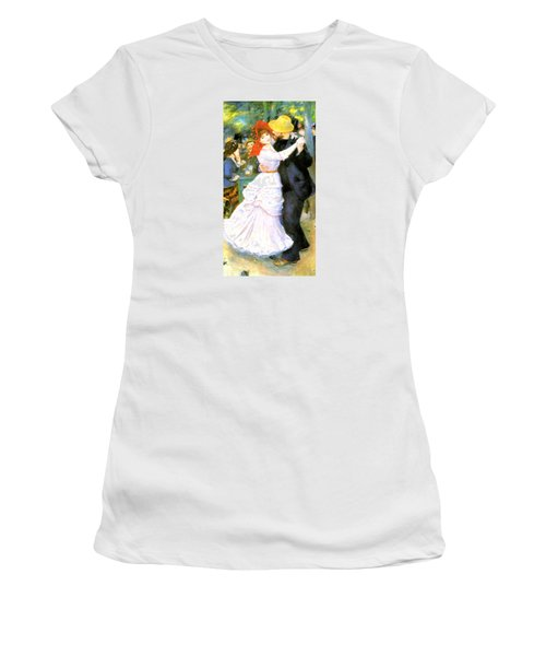 Dance At Bougival Women's T-Shirt (Junior Cut) by Pierre Auguste Renoir