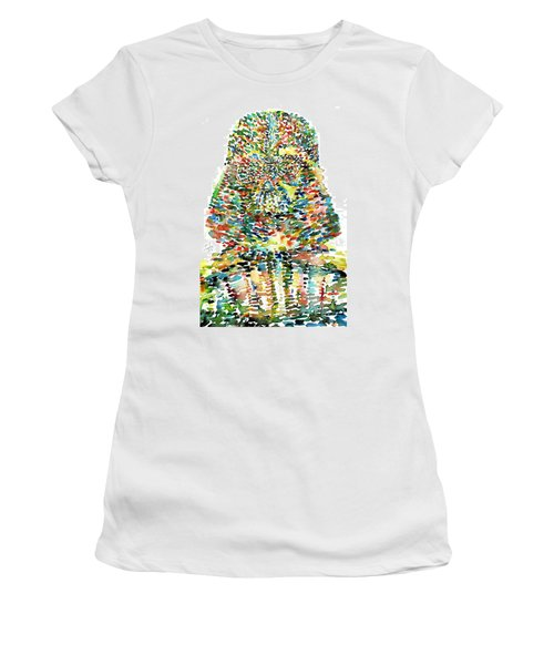 Darth Vader Watercolor Portrait.1 Women's T-Shirt (Athletic Fit)