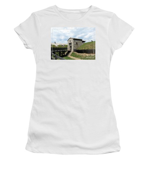 Dauphin Battery And Gate Of The Five Nations Old Fort Niagara Women's T-Shirt