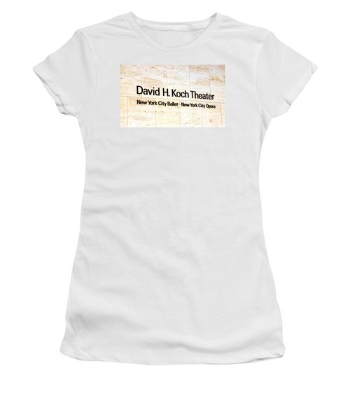David H. Koch Theater Women's T-Shirt (Athletic Fit)