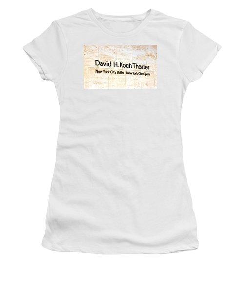 David H. Koch Theater Women's T-Shirt (Junior Cut) by Valentino Visentini