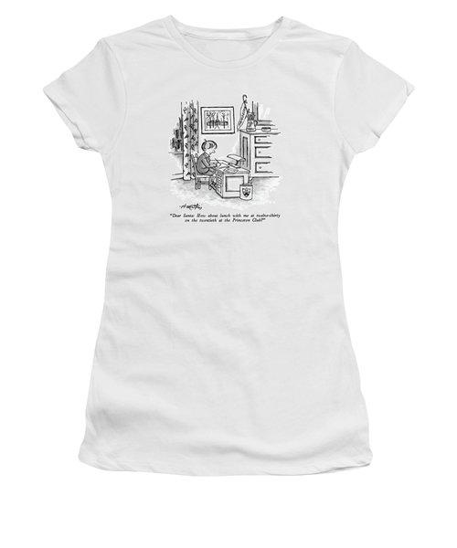 Dear Santa: How About Lunch Women's T-Shirt