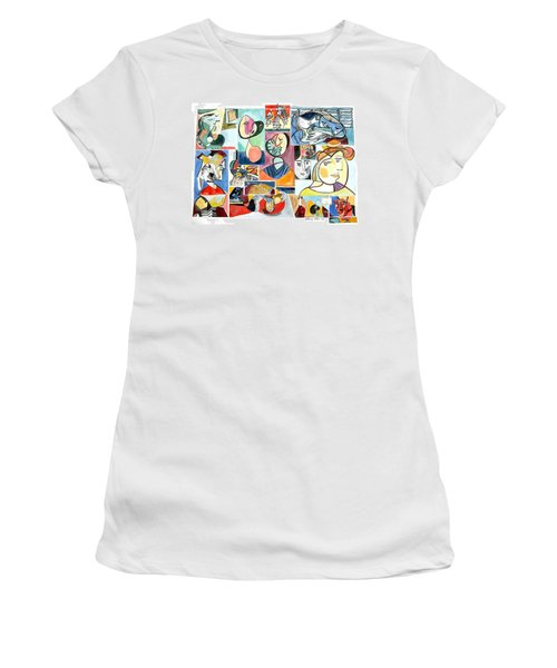 Deconstructing Picasso - Women Sad And Betrayed Women's T-Shirt (Junior Cut) by Esther Newman-Cohen