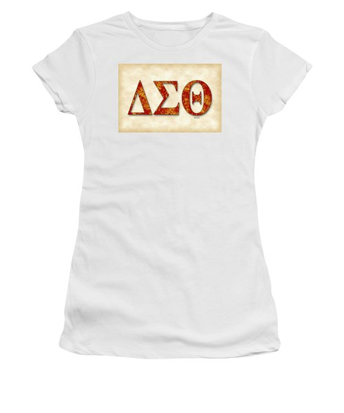 Delta Sigma Theta - Parchment Women's T-Shirt (Athletic Fit)