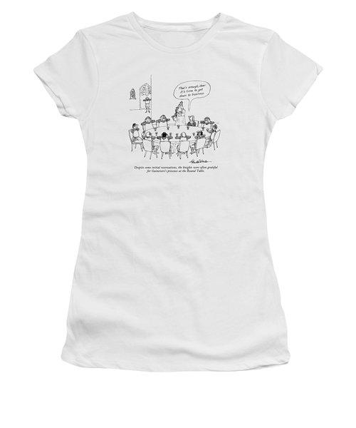 Despite Some Initial Reservations Women's T-Shirt (Junior Cut) by J.B. Handelsman