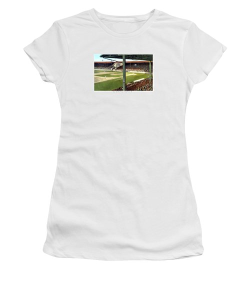 Detroit - Navin Field - Detroit Tigers - Michigan And Trumbull Avenues - 1914 Women's T-Shirt (Athletic Fit)