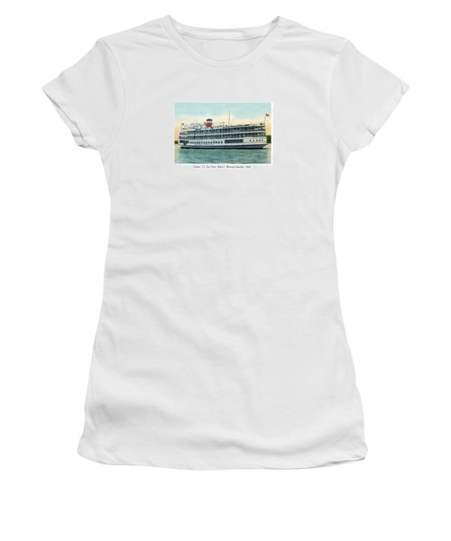 Detroit - Ss Sainte Claire - Boblo - Browning Steamship - 1938 Women's T-Shirt (Athletic Fit)