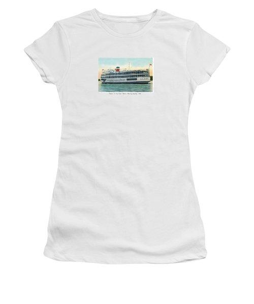 Detroit - Ss Sainte Claire - Boblo - Browning Steamship - 1938 Women's T-Shirt (Athletic Fit)