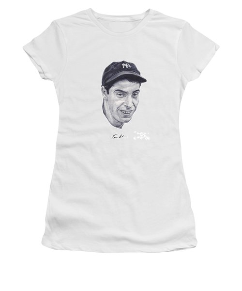 Women's T-Shirt (Junior Cut) featuring the painting Dimaggio by Tamir Barkan