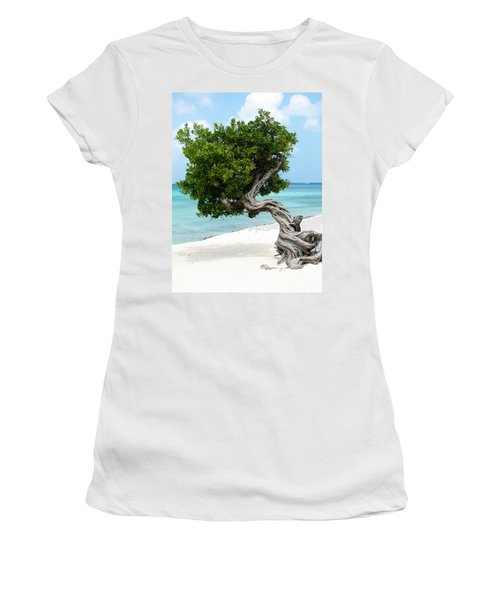 Divi Divi Tree In Aruba Women's T-Shirt (Athletic Fit)