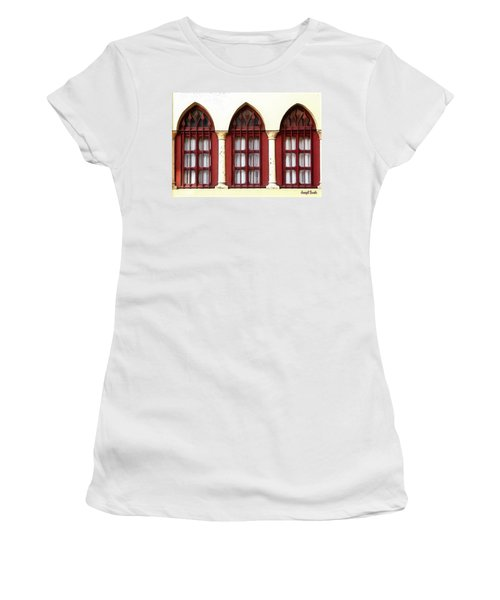 Women's T-Shirt (Athletic Fit) featuring the photograph Do-00368 The 3 Windows Downtown by Digital Oil