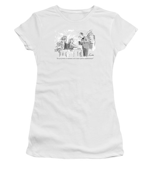 Do You Promise To Maintain Strict Waiter-patron Women's T-Shirt