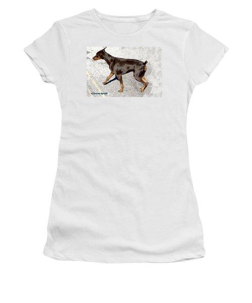 Doberman Women's T-Shirt (Athletic Fit)