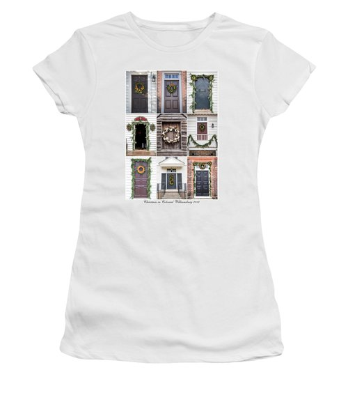 Doors Of Williamsburg Collage 2 Women's T-Shirt