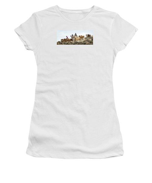 Down The Hill Women's T-Shirt (Junior Cut) by Joan Davis