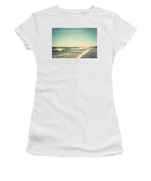 Down The Shore Seaside Heights Vintage Quote Women's T-Shirt (Athletic Fit)