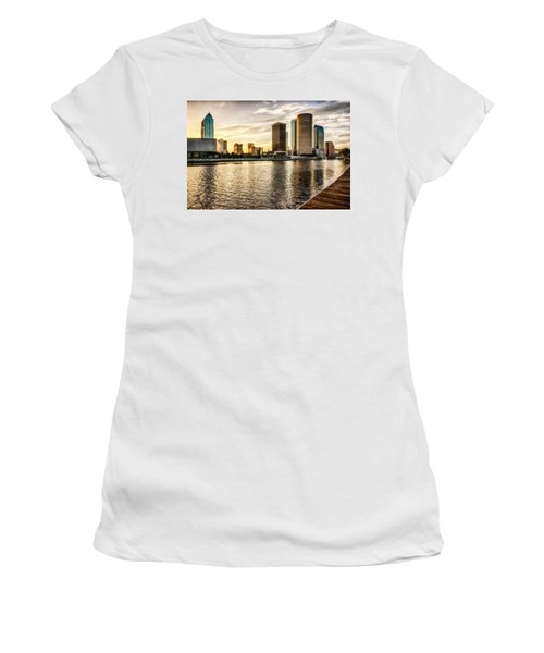 Downtown Tampa At Sunrise Women's T-Shirt (Athletic Fit)