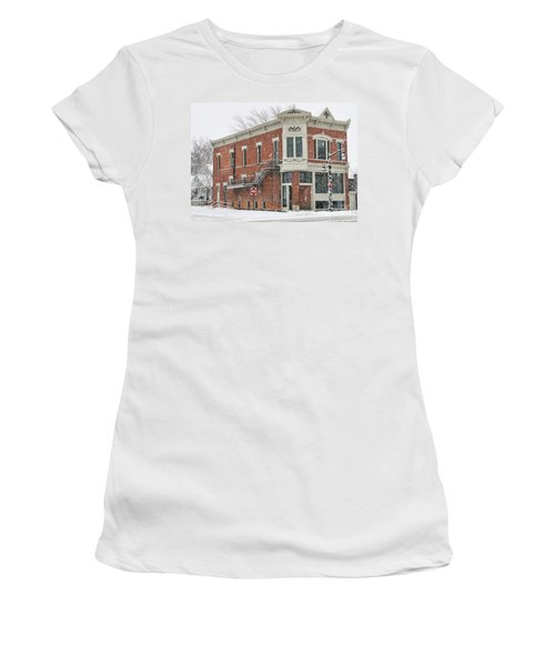 Downtown Whitehouse  7031 Women's T-Shirt (Junior Cut) by Jack Schultz