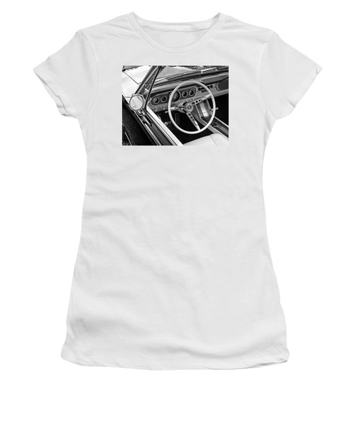 Drive The Dream In Black And White Women's T-Shirt