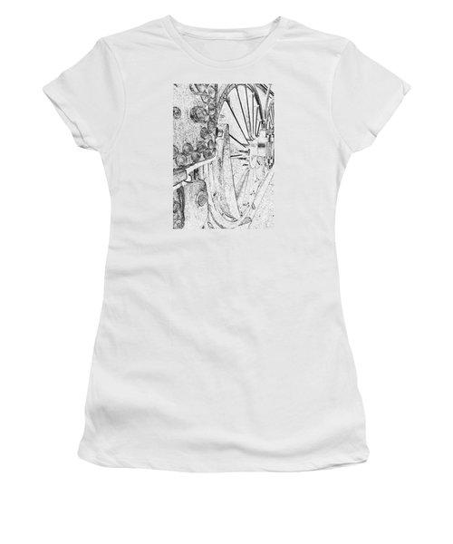 Drive Wheels Dm  Women's T-Shirt (Athletic Fit)