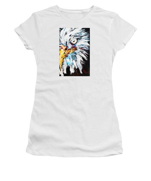 Eagle Women's T-Shirt (Junior Cut) by Patricia Olson