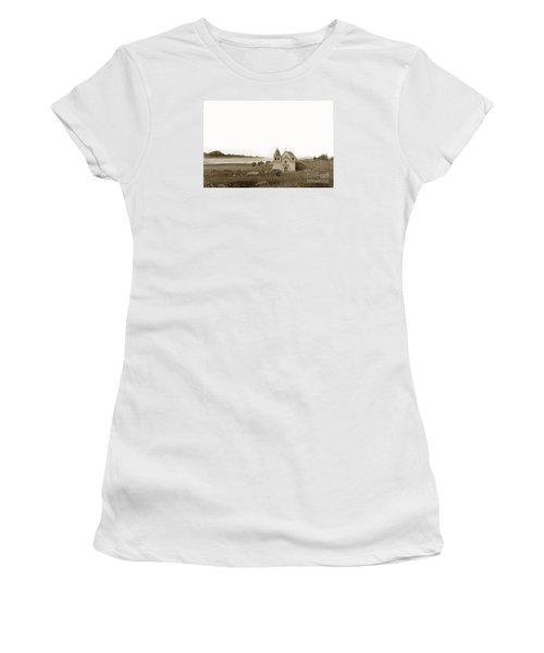 Early Carmel Mission And Point Lobos California Circa 1884 Women's T-Shirt (Junior Cut) by California Views Mr Pat Hathaway Archives