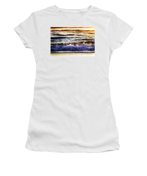 Early Morning Frothy Waves Women's T-Shirt (Athletic Fit)