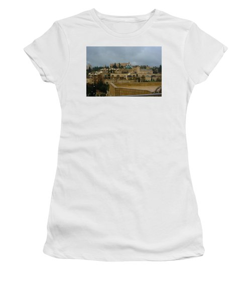 Women's T-Shirt (Junior Cut) featuring the photograph Early Morning In Jerusalem by Doc Braham