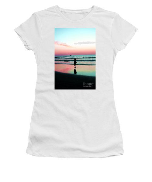Early Morning Stroll Women's T-Shirt (Junior Cut) by Dan Stone