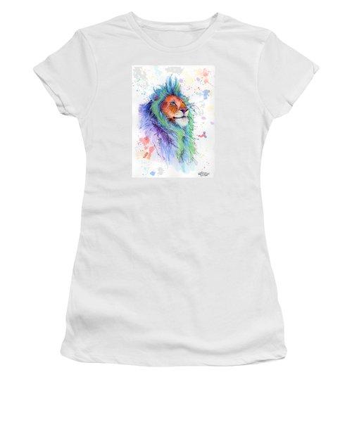 Easter Lion Women's T-Shirt (Junior Cut) by Arleana Holtzmann