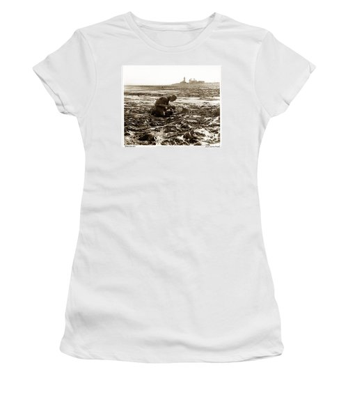 Ed Ricketts At Point Wilson Lighthouse In Port Townsend Wa July 1930 Women's T-Shirt