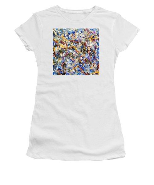 Women's T-Shirt (Junior Cut) featuring the painting Eldorado by Dominic Piperata