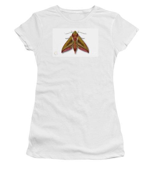 Elephant Hawk Moth Butterfly - Deilephila Elpenor Naturalistic Painting - Nettersheim Eifel Women's T-Shirt