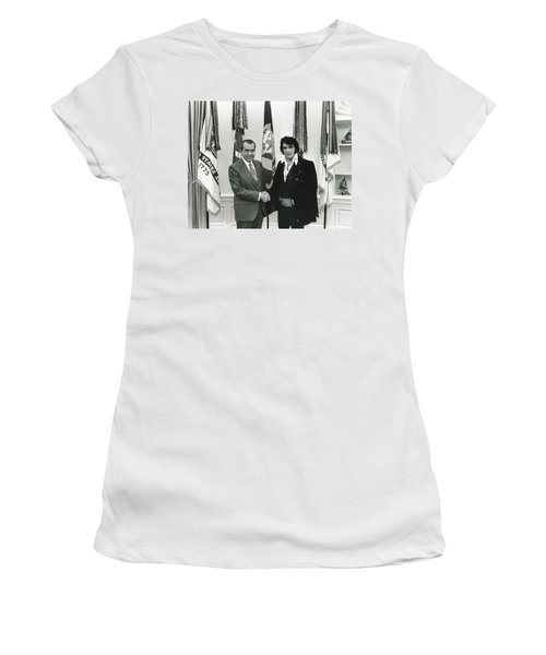 Elvis And Nixon Women's T-Shirt (Athletic Fit)