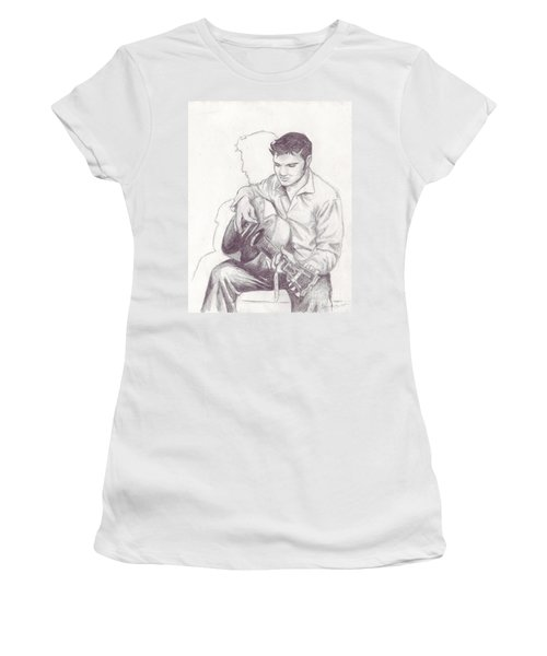 Elvis Sketch Women's T-Shirt (Athletic Fit)