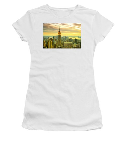 Empire State Building In The Evening Women's T-Shirt (Athletic Fit)